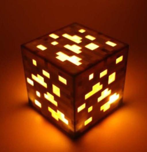 Нічна лампа блок золотий Майнкрафт Світильник Куб Minecraft LED Orange gold нічник майкравт