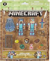 Фігурки для виживання Майнкрафт Стів і Алекс в алмазній броні Minecraft Steve & Alex Hardcore Survival Pack, фото 1