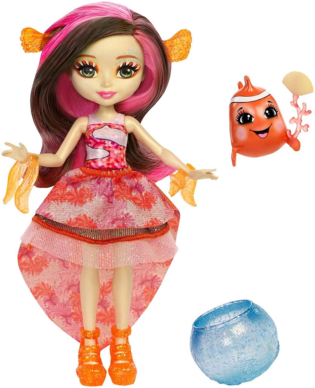 Кукла Энчантималс рыба клоун Кларита Enchantimals Clarita Clownfish Dolls меняет цвет волос клоуфиш оригинал