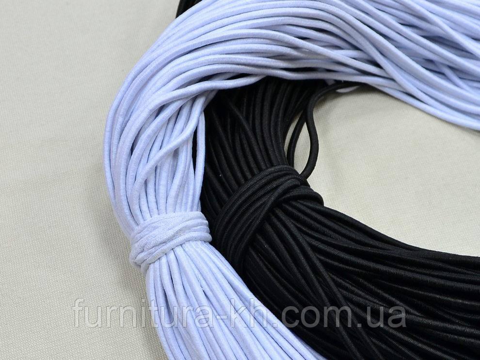 Шляпная Резинка 2 мм в мотке 100 метров.Цвет Белый