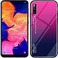 Чехол Samsung Galaxy A70 Gradient Hello