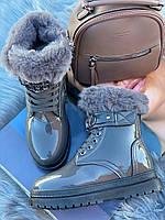Ботинки женские зимние 8 пар в ящике серого цвета 36-41, фото 2