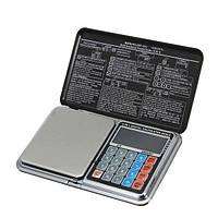 Ваги цифрові мультифункціональні 6 в 1 Pocket Digital Scale Precision DP-01 (0,1/1000 г) (Ваги+калькулятор)