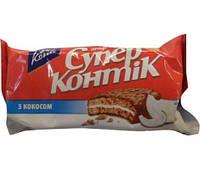 Печенье Супер-Контик с кокосом в шоколадно-молочной глазури 100г 10162541