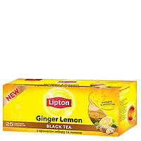 Чай черный Lipton Ginger Lemon 25*1,8г/уп