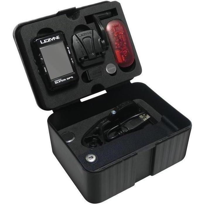Велокомпьютер Lezyne SUPER GPS HRSC LOADED с датчиками пульса и каденса