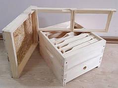 Нуклеус на 2 пчелосемьи, 6 рамкок, 1 кормушка, деревянный