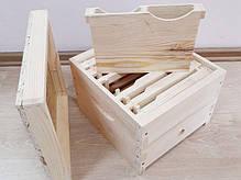 Нуклеус на 2 пчелосемьи, 6 рамкок, 1 кормушка, деревянный, фото 3