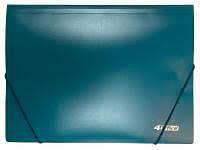 Папка на гумках 4OFFICE А4 500 мкн синя