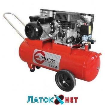 Компрессор 50л 8атм 233л/мин 220В PT-0011 Intertool 1.8кВт 2.5HP