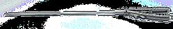 Лапароскопічний голкотримач з ультралегкою титановою V-подібною ручкою та вигнутим уліво наконечник, LPM-0706.12