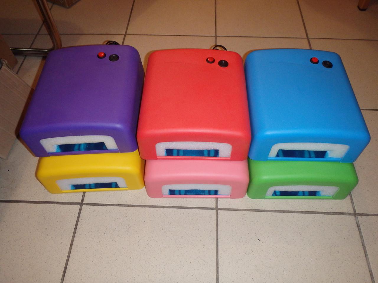 УФ лампа для наращивания ногтей на 36 Вт с таймером разные цвета