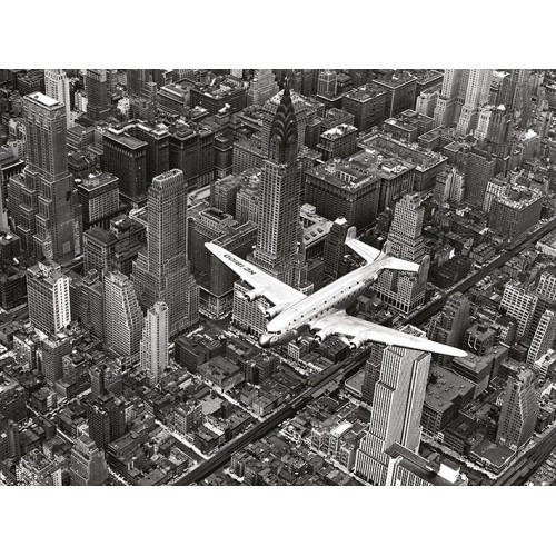 "Фотокартина ""Самолет DC-4 над Манхэттеном"""