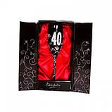 """Бокал для шампанского """"40"""", черный, фото 2"""