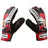 Вратарские перчатки  FC BARCS, красно-черный, размеры 5, 6, 7, 8, 9, фото 2