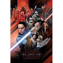 Постер Star Wars The Last Jedi (Red Montage) / Звёздные войны