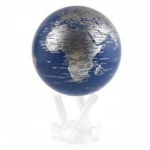 """Глобус самовращающийся Solar Globe Mova """"Політична карта"""" 11,4 см сріблястий (MG-45-BSE)"""