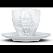 Чашка з блюдцем Tassen Вільям Шекспір (260 мл), фарфор
