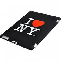 """Крышка для IPad 2 """"I Love NY"""", черная"""