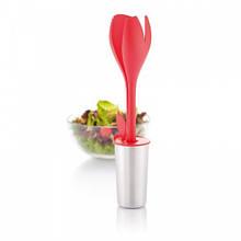 Набір для салату Tulip, сріблясто-червоний