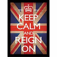 """Постер в раме """"Keep Calm and Reign On"""""""