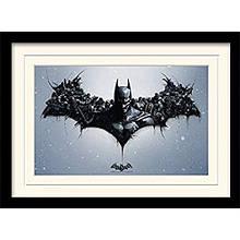 """Постер в раме """"Batman Arkham Origins (Logo)"""""""