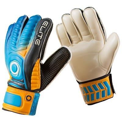 Вратарские перчатки Latex Foam ELITE, оранжевый/голубой, размеры 6, 7, 8, 9.