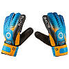 Вратарские перчатки Latex Foam ELITE, оранжевый/голубой, размеры 6, 7, 8, 9., фото 2