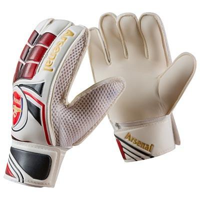 Вратарские перчатки Latex Foam ARSENAL, красно-белый, размеры 5, 6, 7, 8, 9