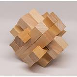 Набор из 3 деревянных головоломок-антистрессов разного уровня сложности, фото 2