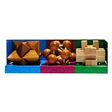 Набор из 3 деревянных головоломок-антистрессов разного уровня сложности, фото 4