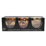 Набор из 3 деревянных головоломок-антистрессов разного уровня сложности, фото 5