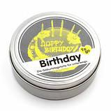 """Свеча """"Happy Birthday"""" в металлической баночке, фото 3"""