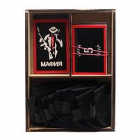 """VIP набор """"Мафия"""" в деревянной коробке"""