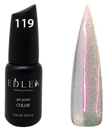 Гель-лак Edlen №119 (жемчужный, микроблеск), 9 мл