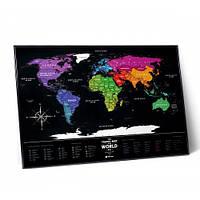 Скретч карта світу Travel Map Black World в рамі