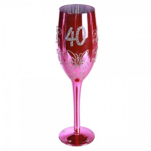 "Бокал для шампанского ""Happy Birhday"" 40"