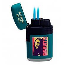 Зажигалка с двойным голубым пламенем BOB