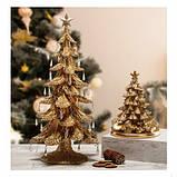 """Статуэтка """"Новогодняя елка"""" золотая, 54 см, фото 2"""