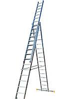 Лестница ELKOP VHR Profi 3x16 алюминиевая, 3 секции, 16 ступеней