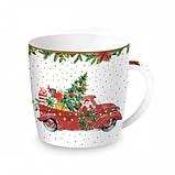 "Чашка ""Время Рождества Санта и Снеговик"", фото 3"