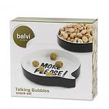 Набор из двух керамических блюд для снеков и закусок Balvi Talking Bubbles, фото 2