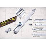"""Ручка шариковая-стилус """"Construction"""" с линейкой, уровнем и отверткой, серебро, фото 4"""