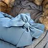 Детский конверт для коляски, санок 4 в 1 Springos SB0001 Blue, фото 4