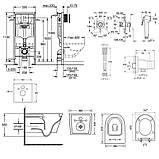 Комплект инсталляция Grohe Rapid SL 38772001 + унитаз с сиденьем Qtap Jay QT07335176W + набор для гигиенического душа со смесителем Grohe BauClassic, фото 2