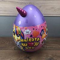 Детский набор для творчества Unicorn Wow Box Danko Toys яйцо сюрприз единорог девочек детей подарочный