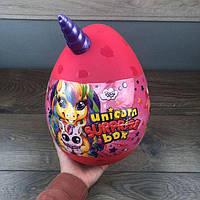 Детский набор для творчества Unicorn Surprise Box Danko Toys яйцо сюрприз единорог девочек детей подарочный
