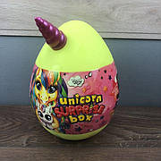 Детский набор для творчества Unicorn Surprise Box Danko Toys яйцо сюрприз единорог девочек подарочный желтый