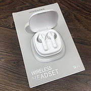Беспроводные bluetooth наушники Hopestar S11 с микрофоном для пк телефона wireless вкладыши блютуз белые