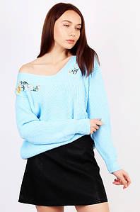 Свитер женский голубой размер 46-48 AAA 124661P